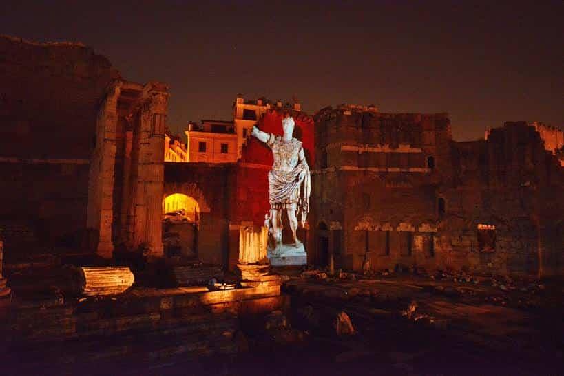 Ancient Rome forum of Augustus