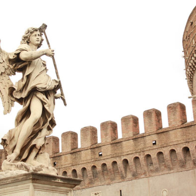 Statue of an angel inside Castel St Angelo. As seen on our tour for kids.