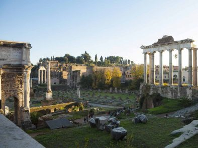 The roman forum makes up part of our glory of Rome tour.