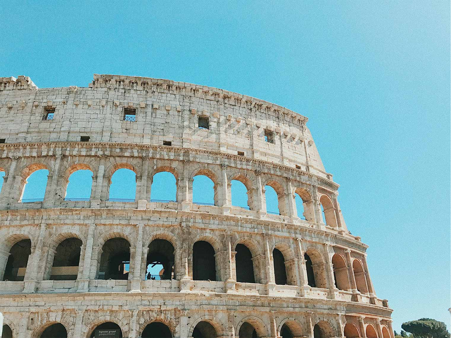 The Colosseum with skip the line access tour.