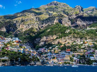 blue seas, colorful cliffside towns and your own private driver on the Amalfi Coast.