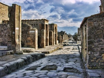 Discover the preserved ancient city of Pompeii.