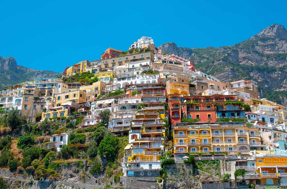 Colorful cliffside town on the Amalfi Coast that you will explore with your private guide.