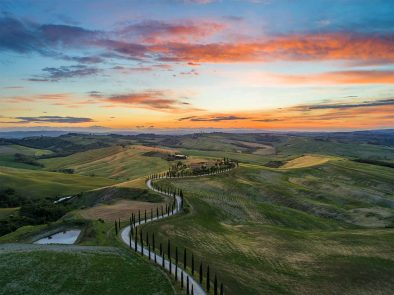 Beautiful landscape of Val d'Orcia.