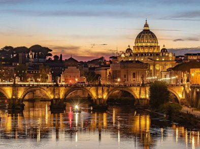 View of Vatican Cathedral on an exclusive evening tour.