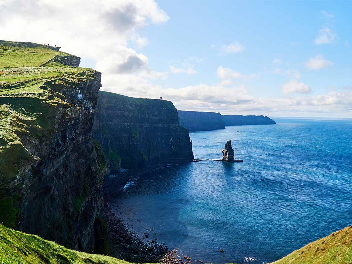 The cliffs of Moher, Irelands most popular tourist destination.