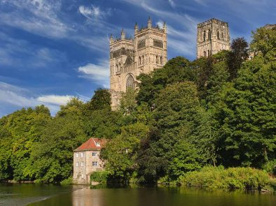 Durham Cathedral, used as the location for Hogwarts in Harry Potter.