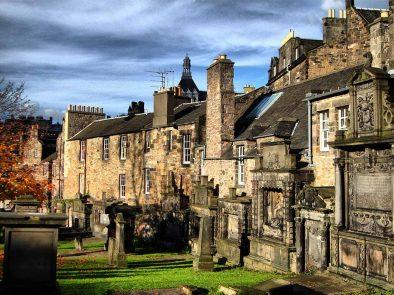 Greyfriars Kirkyard in Edinburgh that inspired JK Rowling to write harry Potter.