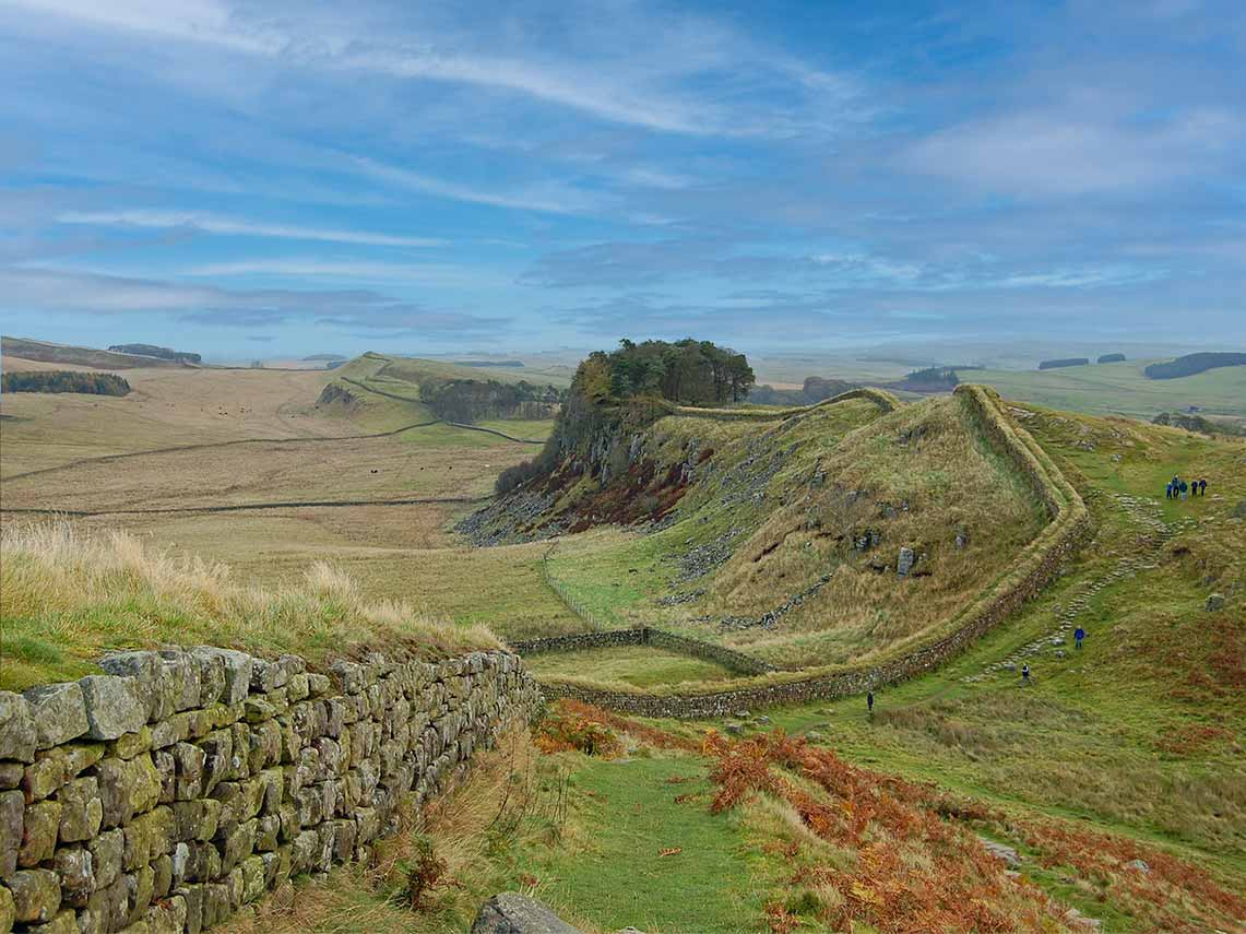 Private tour of original sections of hadrians wall