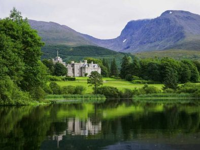 stay a night in Inverlochy castle hotel during your tour of the scottish highlands and islands