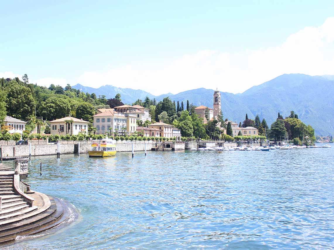 crystal blue water of Lake Como.