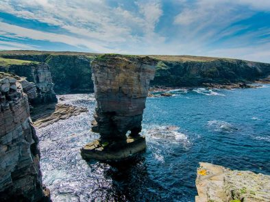 stunning coastal views and geological formations in the sea on your highlands and islands tour.