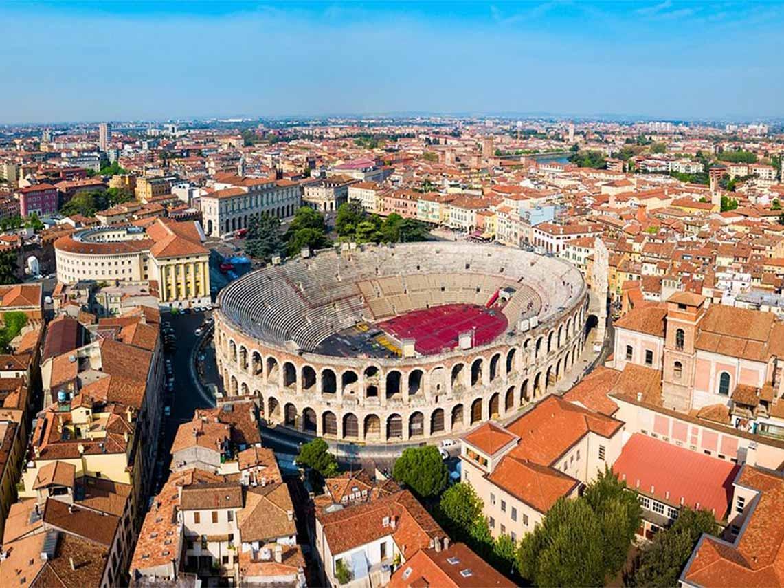 Ancient amphitheatre in Verona.