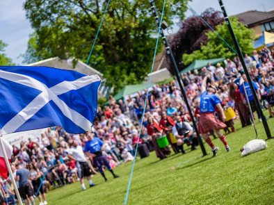 Enjoy watching a highland games on your tour.